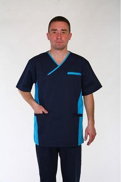 Медицинский костюм-модель-3253 (ткань-коттон/синий/размер 42-60)