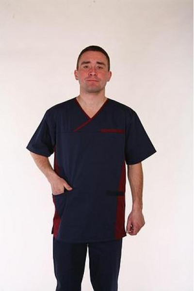 Медицинский костюм-модель-3255 (ткань-коттон/синий/размер 42-60)