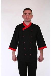 Поварской костюм-модель-22117 (ткань-х/б/черный/размер 42-56)