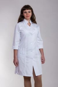 Медицинский халат-модель-3102 (ткань-коттон/белый/размер 40-60)