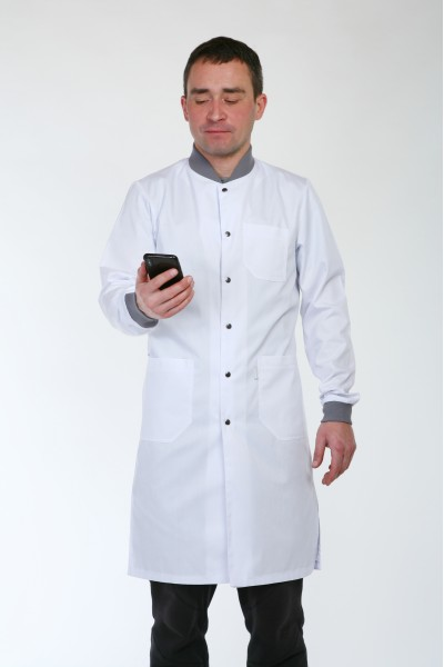 Медицинский халат-модель-3142 (ткань-коттон/белый/размер 42-56)