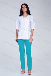 Медицинский костюм-модель-2254 (ткань-х/б/вышивка/размер 40,42)