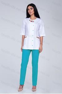 Медицинский костюм-модель-2263 (ткань-х/б/вышивка/размер 40,42,46,48,52,54,60р)