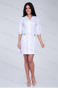 Медицинский халат-модель-2114 (ткань-хб/белый/размер 42-74)