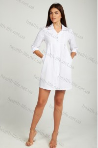 Медицинский халат-модель-2117 (ткань-хб/белый/размер 40-50)