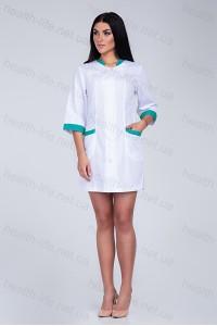 Медицинский халат-модель-2151(ткань-х/б/белый/размер 42-60)