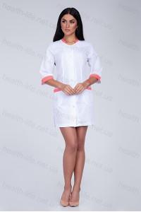 Медицинский халат-модель-2152(ткань-х/б/белый/размер 42-60)