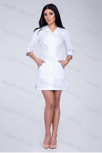 Медицинский халат-модель-2168 (ткань-х/б/белый/размер 42-56)