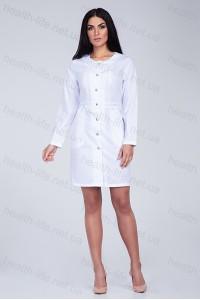 Медицинский халат-модель-2171 (ткань-х/б/белый/размер 40-52)