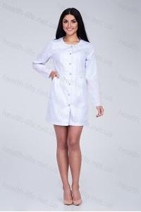 Медицинский халат-модель-2171(ткань-х/б/белый/размер 40-52)