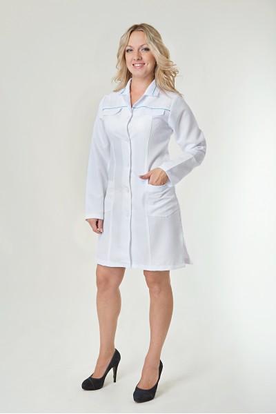Медицинский халат-модель-1124
