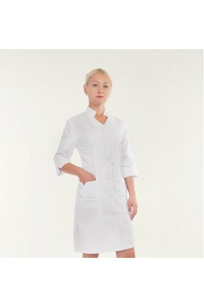 Медицинский халат-модель-3102 (ткань-коттон/белый/размер 40,42,46,56,60р)