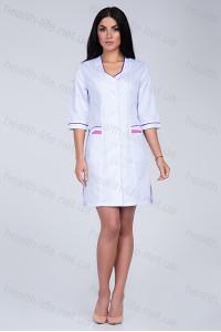 Медицинский халат-модель-3104 (ткань-коттон/белый/размер 42-74)