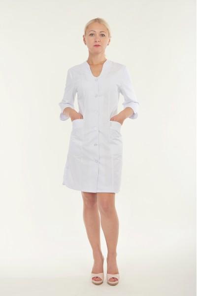 Медицинский халат-модель-3110 (ткань-коттон/белый/размер 40-66)