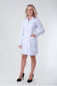 Медицинский халат-модель-3112 (ткань-коттон/белый/размер 40-50)