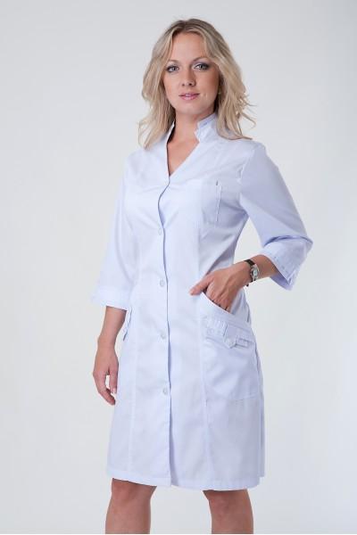 Медицинский халат-модель-3118(ткань-коттон/белый/размер 40-60)