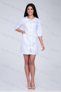 Медицинский халат-модель-3127 (ткань-коттон/белый/размер 40-52)