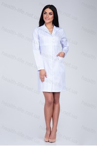 Медицинский халат-модель-3130 (ткань-коттон/белый/размер 40-56)