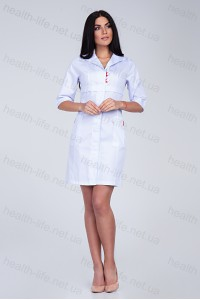 Медицинский халат-модель-3131 (ткань-коттон/белый/размер 40-56)