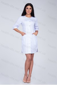 Медицинский халат-модель-3133 (ткань-коттон/белый/размер 40-60)
