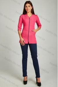 Медицинский костюм-модель-22110 (ткань-х/б/малиновый/темно-синий/размер 42-60)