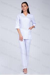 Медицинский хирургический костюм-модель-2220 (ткань-х/б/белый/размер 42-50)