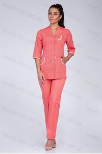 Медицинский костюм-модель-2252 (ткань-х/б/персиковый/размер 40-56)