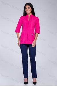 Медицинский костюм-модель-2271 (ткань-х/б/малиновый/темно-синий/размер 42-56)