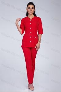 Медицинский костюм-модель-2283  (ткань-х/б/красный/размер 42-60)