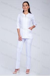Медицинский костюм-модель-2286 (ткань-х/б/белый/размер 42-56)