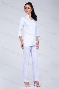 Медицинский костюм-модель-3202 (ткань-коттон/белый/размер 42-60)