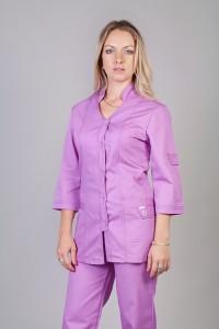 Медицинский костюм-модель-3205 (ткань-коттон/сирень/размер 42,44,52,58)