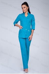 Медицинский костюм-модель-3206 (ткань-коттон/бирюзовый/размер 42-64)