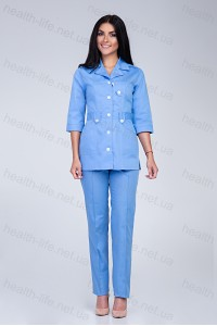 Медицинский костюм-модель-3219 (ткань-коттон/голубой/размер 40-66)
