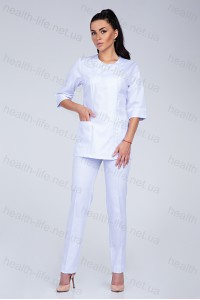 Медицинский костюм-модель-3222 (ткань-коттон/белый/размер 40-56)
