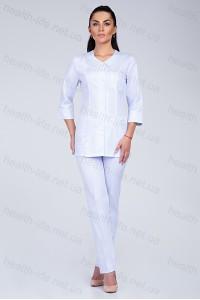 Медицинский костюм-модель-3233 (ткань-коттон/белый/размер 42-60)