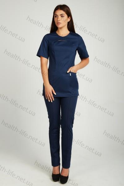 Медицинский костюм-модель-3251 (ткань-коттон/темно-синий/размер 42-60)
