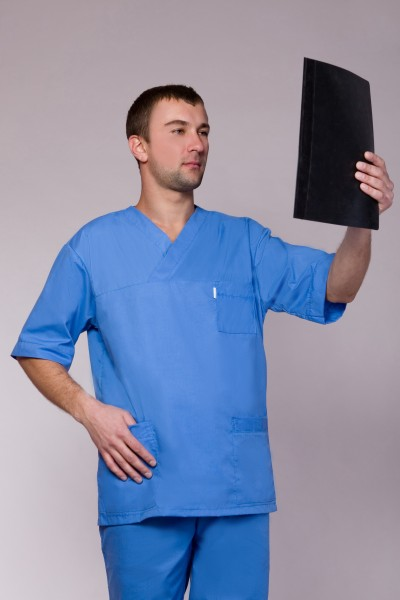 Медицинский костюм-модель-3211 (ткань-коттон/синий/размер 42-60)