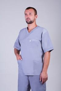 Медицинский костюм-модель-2225 (ткань-х/б/серый/размер 42-60)