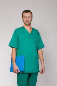 Медицинский костюм-модель-3212 (ткань-коттон/зеленый/размер 42-60)