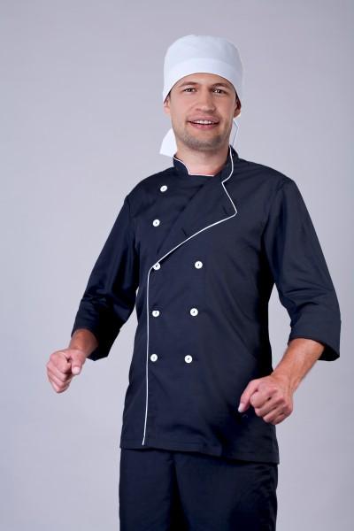 Поварской костюм-модель-2241 (ткань-х/б/черный/размер 42-56)