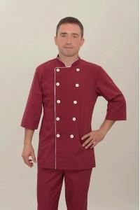 Поварской костюм-модель-2289 (ткань-х/б/бордо/размер 42-56)