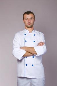 Поварской костюм-модель-3213 (ткань-коттон/белый/размер 42-56)