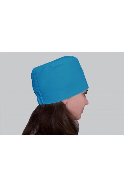 Медицинский головной убор, модель 2302 - (ткань-х/б/бирюзовый/размер 58-60)
