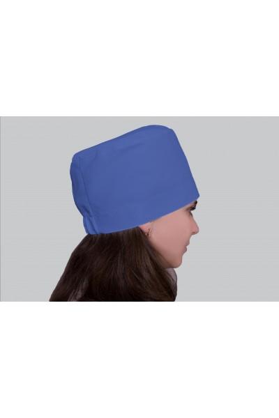 Медицинский головной убор, модель 2307 - (ткань-х/б/синий/размер 58-60)