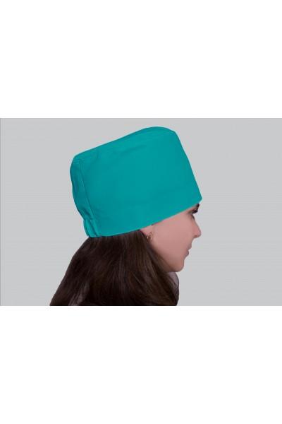 Медицинский головной убор, модель 2304- (ткань-х/б/мятный/размер 58-60)