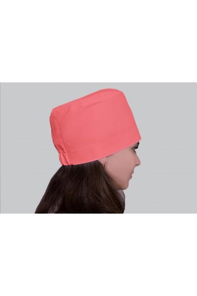 Медицинский головной убор, модель 2305 - (ткань-х/б/персиковый/размер 58-60)