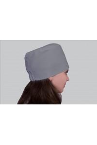 Медицинский головной убор, модель 2306 - (ткань-х/б/серый/размер 58-62)