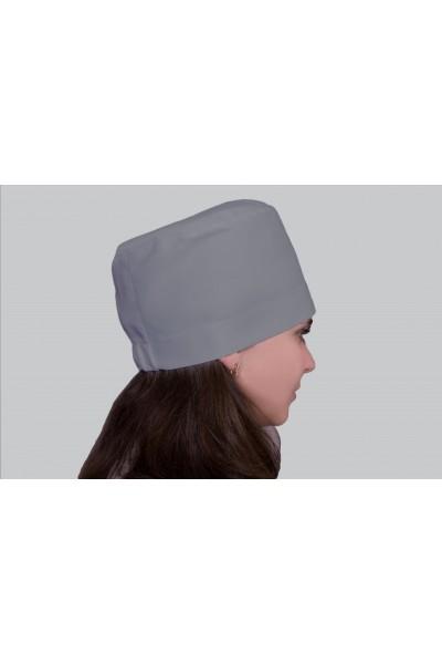 Медицинский головной убор, модель 2306 - (ткань-х/б/серый/размер 58-60)
