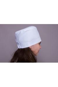 Головной убор-модель-3301 (ткань-коттон/белый/размер 56-62)